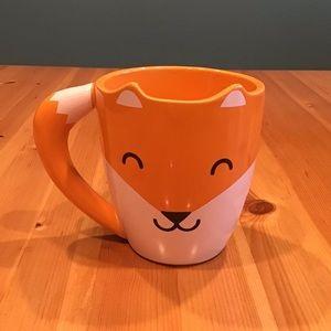 THUMBS UP! U.K. Orange Ceramic Fox Mug-RARE!